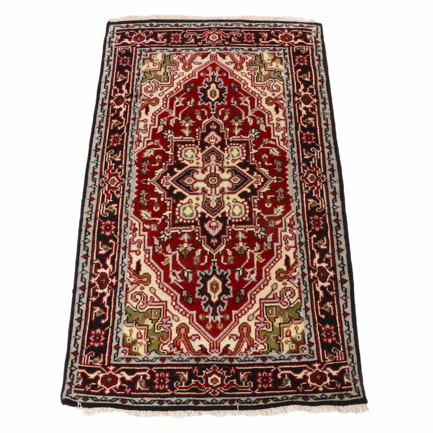 3'8 x 6'8 Hand-Knotted Indo-Persian Heriz Rug