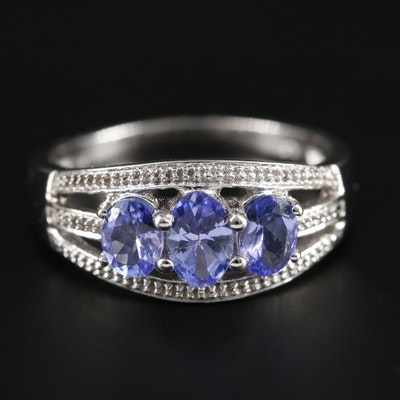 9K Yellow Gold Tanzanite Ring