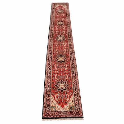 2'6 x 16'0 Hand-Knotted Indo-Persian Heriz Runner