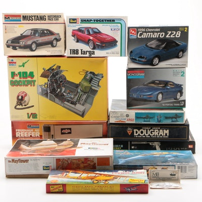 Revell, Monogram, and ESCI Plastic and Die-Cast Building Model Kits