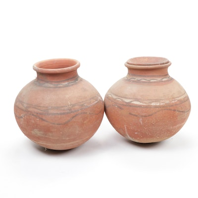 Native American Style Clay Storage Jars