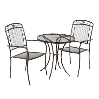 Mesh Metal Patio Table and Chairs