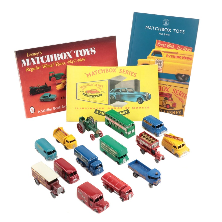 """Lesney """"Matchbox"""" Cars with Original Boxes and Reference Books"""