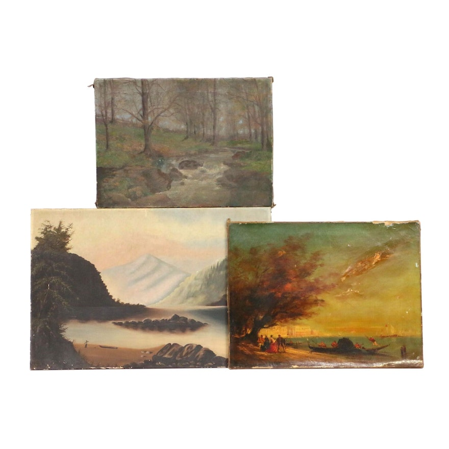 Landscape Oil Paintings, 19th Century