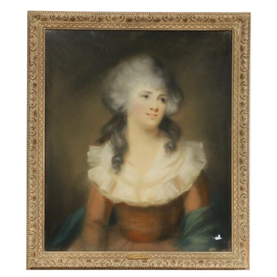 "Pastel Portrait In the Manner of Maria Conway ""Lady Florence Sidney"""