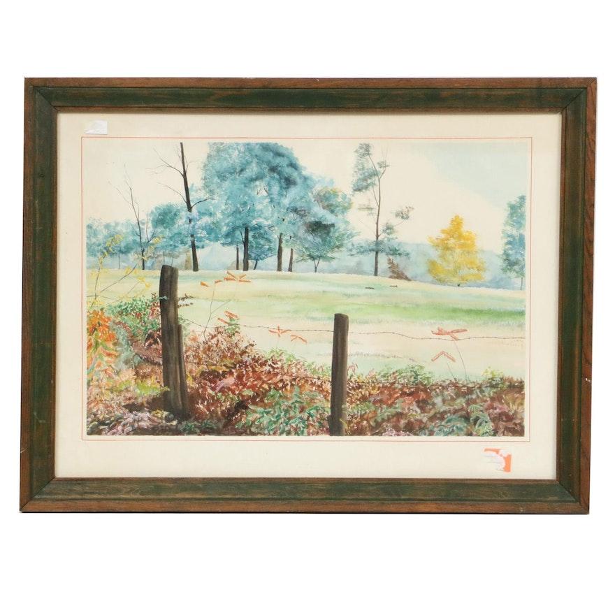 Gregory D. Steele Landscape Watercolor Painting