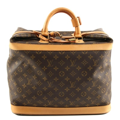 Louis Vuitton Cruiser 40 Travel Bag in Monogram Canvas and Leather