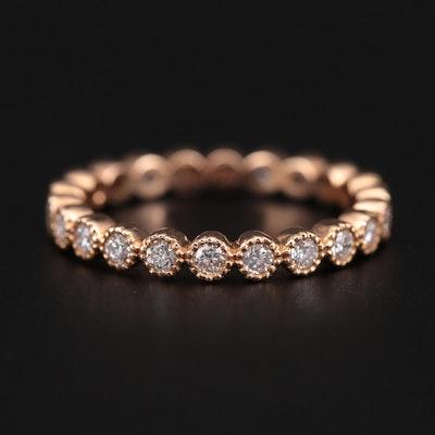 18K Rose Gold Diamond Eternity Band