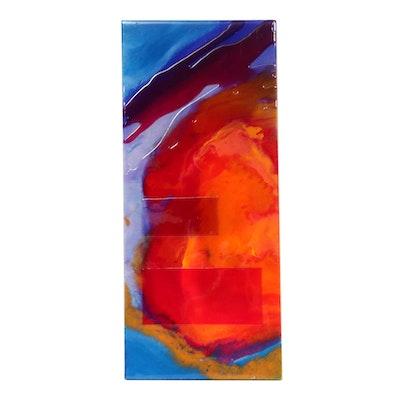 "Abstract Mixed Media Painting ""Impact I"""