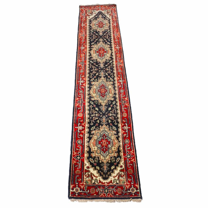 2'6 x 12'3 Hand-Knotted Indo-Persian Heriz Runner