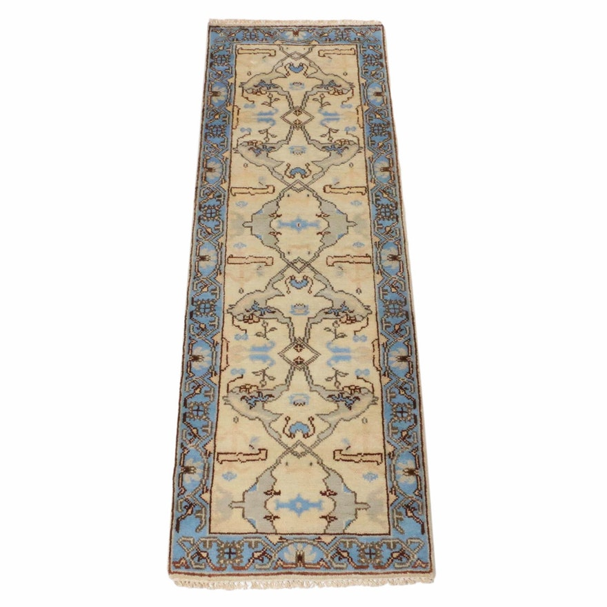 2'8 x 8'0 Hand-Knotted Indo-Persian Heriz Runner