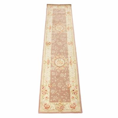 2'6 x 9'11 Handwoven Chinese Silk Blend Runner