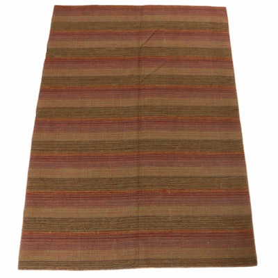 4'7 x 6'7 Handwoven Indian Kilim Rug