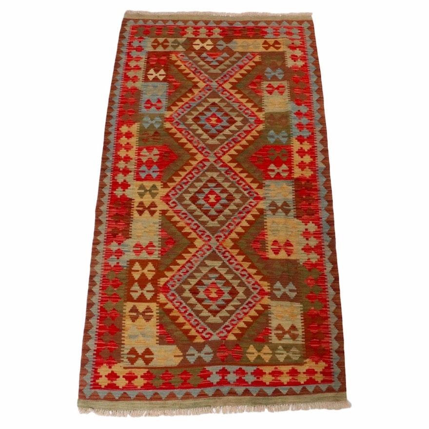 3'5 x 6'7 Handwoven Turkish Kilim Rug