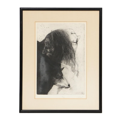 "Robert Marx Etching ""Janus and Goat,"" 1969"