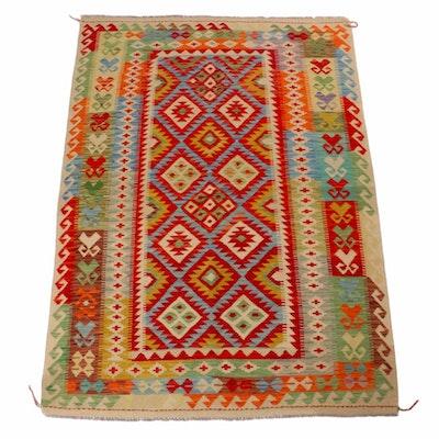 4'9 x 6'10 Handwoven Afghani Kilim Rug