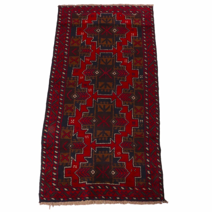 3'4 x 6'10 Hand-Knotted Afghani Baluch Rug