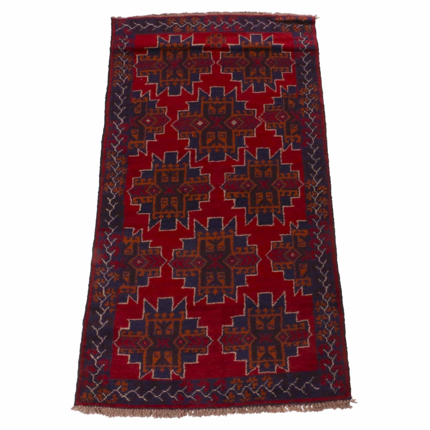 3'7 x 6'8 Hand-Knotted Afghani Baluch Rug