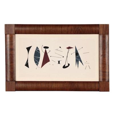 """Serigraph after Charley Harper """"Musicians I"""""""