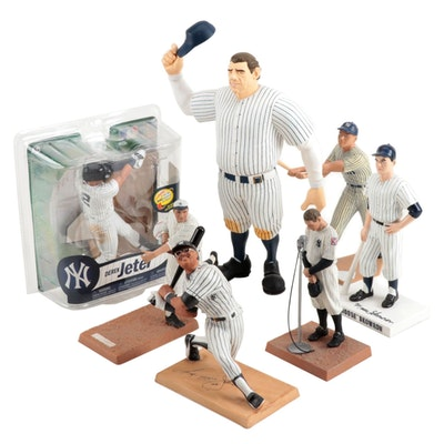 New York Yankees Baseball Statue-Figures Including Babe Ruth, Contemporary