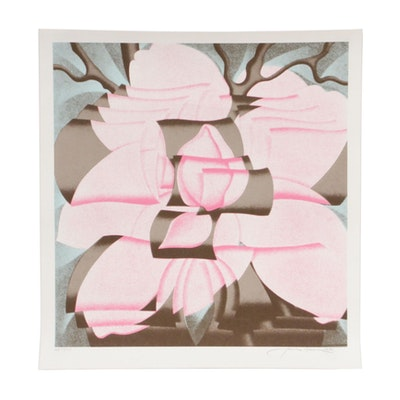 "Jack Brusca Serigraph ""Magnolia,"" 1978"