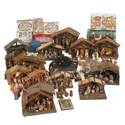 Nativity Sets with Christmas Decor Featuring Marquis by Waterford Ornaments