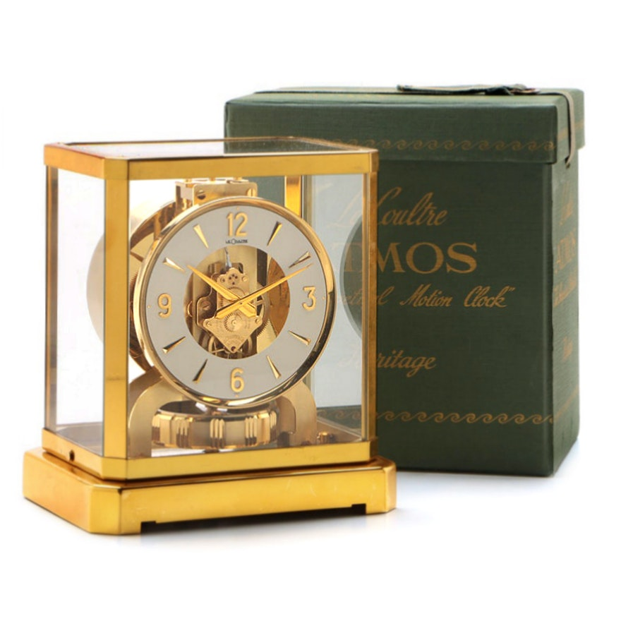 Jaeger LeCoultre Atmos Heritage Brass Mantel Clock