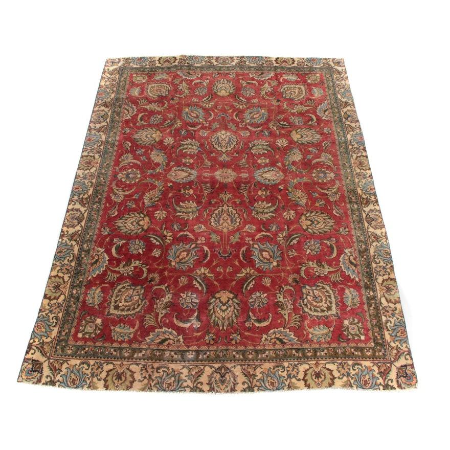 8'1 x 11'10 Hand-Knotted Persian Tabris Wool Rug