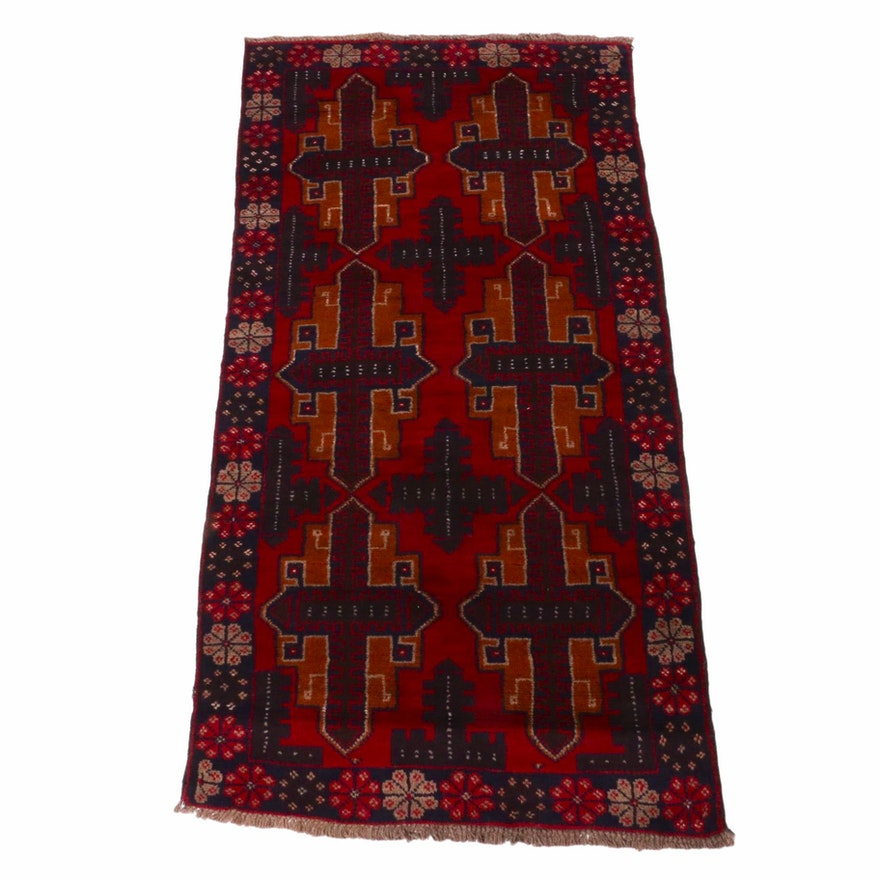 3'4 x 6'6 Hand-Knotted Afghani Baluch Rug