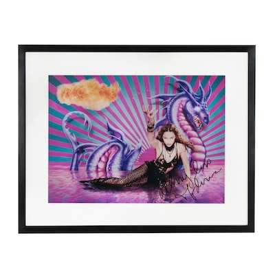 "David LaChapelle C-Print ""Purple Dragon, Fireball..."", Signed by Madonna"