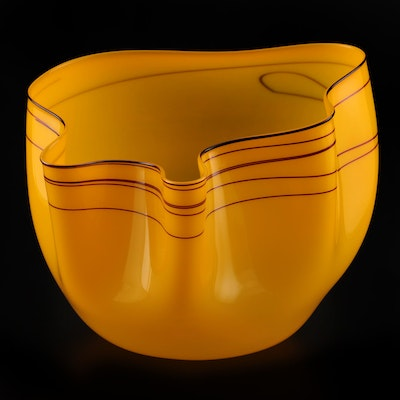 "Dale Chihuly Art Glass Sculpture ""Golden Topaz"", 1997"