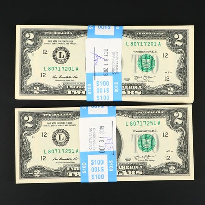 One-Hundred Consecutive Serial Numbered 2003 $2 Federal Reserve Currency Notes