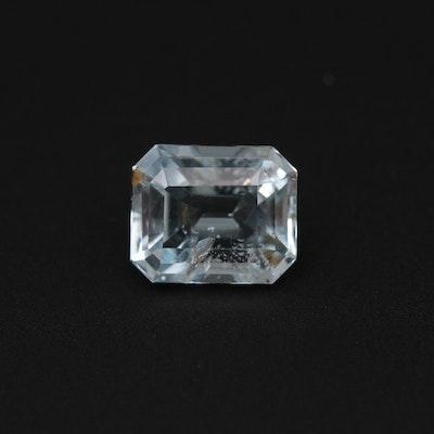 Loose 2.65 CT Aquamarine Gemstone