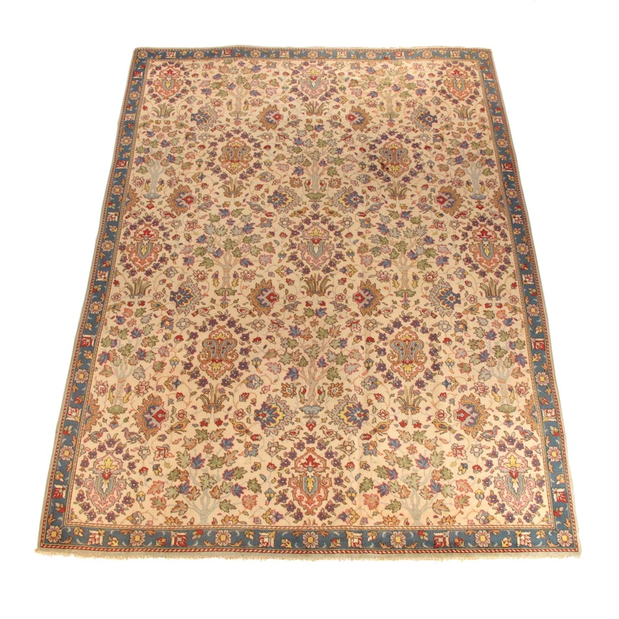 8'1 x 11'3 Hand-Knotted Turkish Oushak Wool Rug
