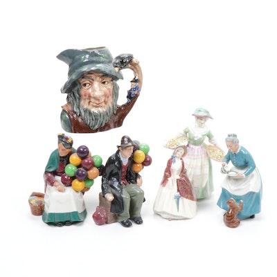 """Royal Doulton Figurines and """"Rip Van Winkle"""" Toby Mug"""