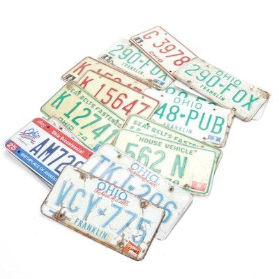 Ohio License Plates, 1970s - 2000s