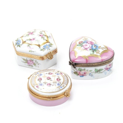 Rochard and Other Hand-Painted Porcelain Limoges Boxes