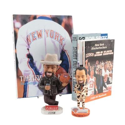 Walt Frazier Bobbleheads with New York Knicks Books