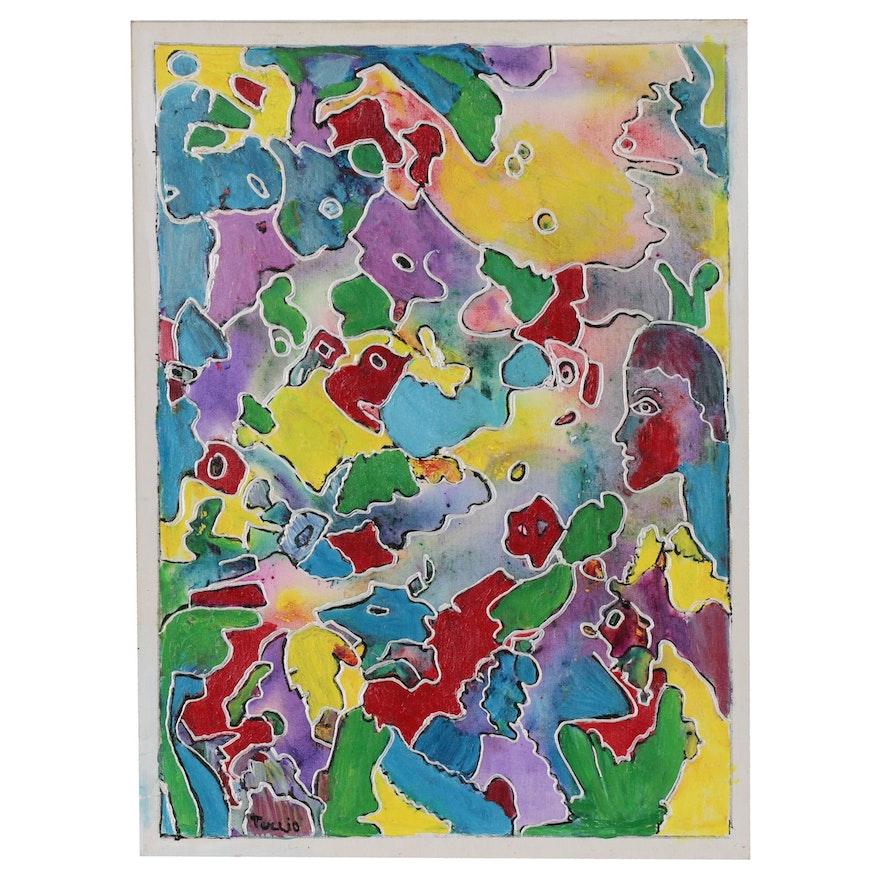 Charles Tullio Abstract Acrylic Painting