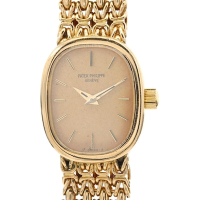 Vintage Patek Philippe Ellipse 18K Yellow Gold Wristwatch