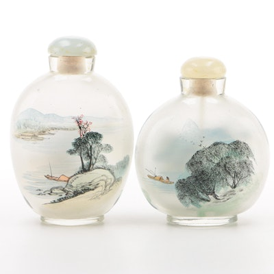 Chinese Reverse Painted Glass Snuff Bottles