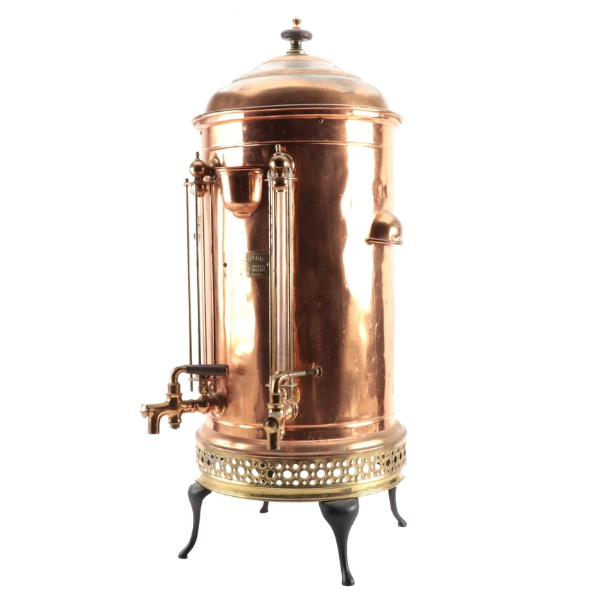 Standard Furnace & Range Co. Copper Beverage Urn, Early 20th Century