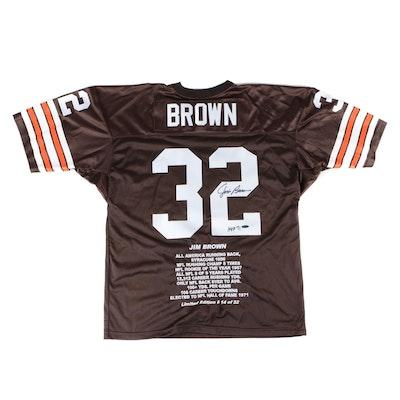 "Jim Brown Signed Cleveland Browns ""Stats"" NFL Jersey, Tristar COA"