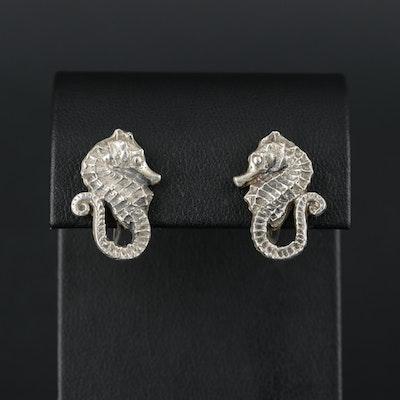Sterling Silver Sea Horse Earrings