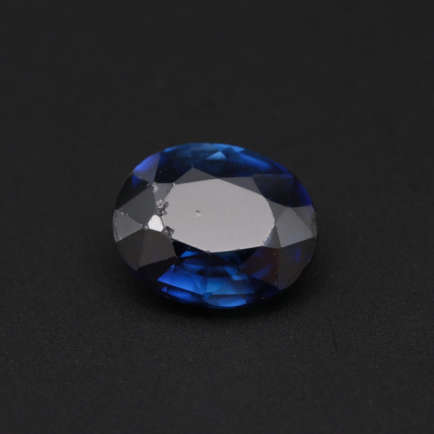 Loose 5.32 CT Synthetic Sapphire