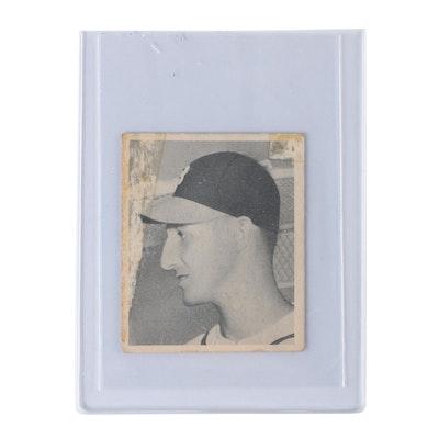 1948 Warren Spahn Milwaukee Braves Rookie #18 Bowman Baseball Card
