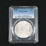PCGS Graded MS63 1888 Silver Morgan Dollar