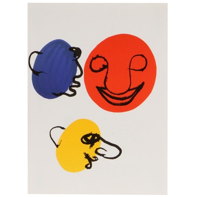 """Alexander Calder Color Lithograph for """"Derrière le Miroir,"""" 1976"""