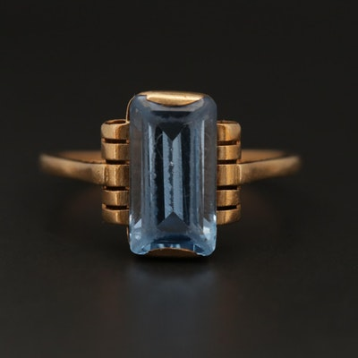 Vintage 14K Yellow Gold Spinel Ring
