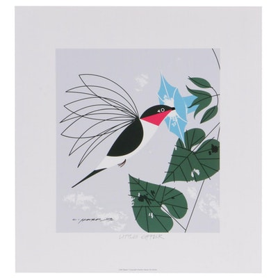 "Offset Lithograph After Charley Harper ""Little Sipper,"" 21st Century"